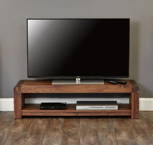 Baumhaus Shiro Walnut Low TV Cabinet (CDR09A)