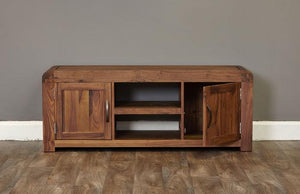Baumhaus Shiro Walnut Widescreen Television Cabinet (CDR09B)