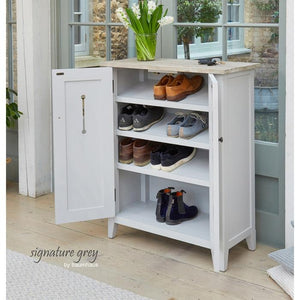 Baumhaus Signature Grey Shoe Cupboard (CFF20A)
