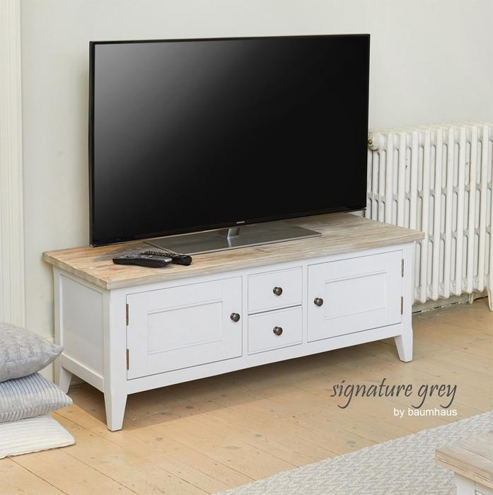 Baumhaus Signature Grey TV Stand (CFF09A)
