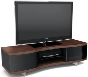 BDI Ola 8137 Chocolate Walnut Curved TV Cabinet