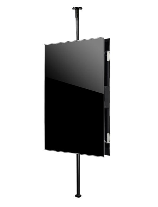 B-Tech BT2MFCPF-B2B40-65 Back to Back Portrait Twin Screen Floor to Ceiling TV Bracket with 2m Pole