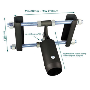 B-Tech BT7017 - Modular TV Ceiling Mount I-Beam (Girder) Mount to 50mm pole adaptor