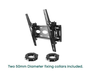 B-Tech BT7808 Ceiling / Wall Mount with Tilt for 50mm Diameter Poles