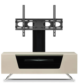Alphason Chromium 1200mm TV Stand with Bracket in Ivory (CRO2-1200BKT-IV)