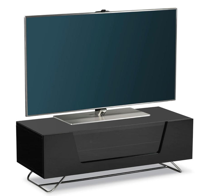 Alphason Chromium 2 Black TV Stand (CRO2-1000CB-BLK)
