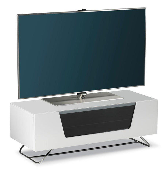 Alphason Chromium 2 White TV Stand (CRO2-1000CB-WHT)