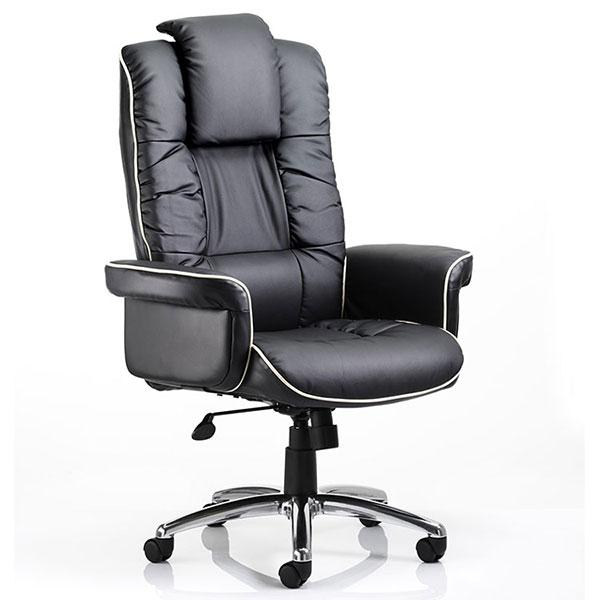 Dynamic Chelsea Luxury Gull Wing Executive Black Leather Chair