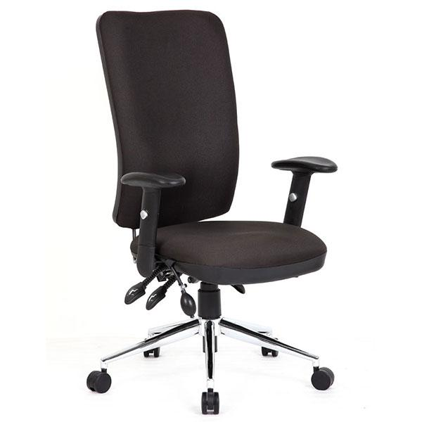 Dynamic Chiro High Back Ergonomic 24Hr Executive Chair in Black Fabric