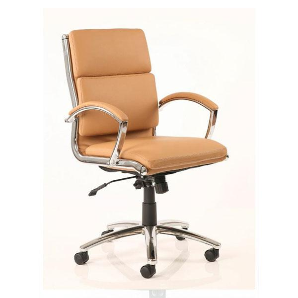 Dynamic Classic Medium Back Executive Office Chair in Tan