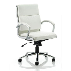 Dynamic Classic Medium Back Executive Office Chair in White