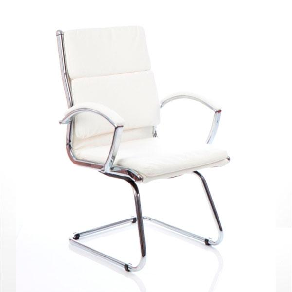 Dynamic Classic Visitor Office Chair in White