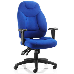 Dynamic Galaxy Ergonomic Executive Fabric Operator Chair in Blue