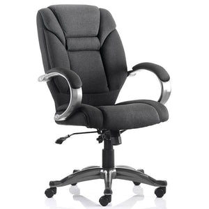 Dynamic Galloway Executive Fabric Office Chair in Black