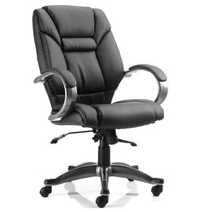 Dynamic Galloway Executive Leather Office Chair in Black
