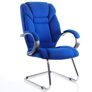 Dynamic Galloway Visitor Fabric Office Chair in Blue