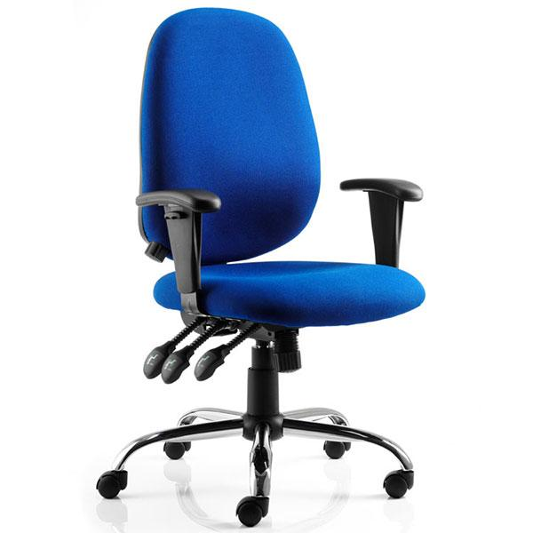 Dynamic Lisbon Ergonomic Fabric Operator Chair in Blue