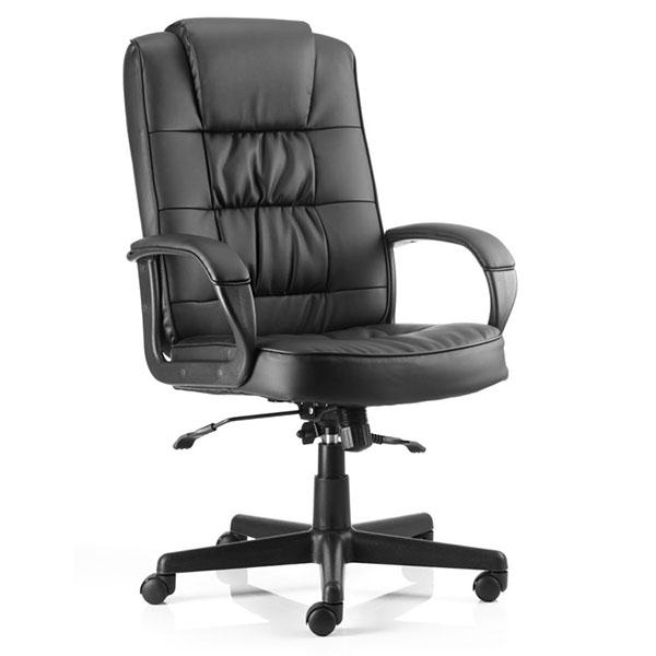 Dynamic Moore Executive Leather Office Chair in Black