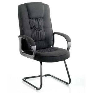 Dynamic Moore Visitor Fabric Office Chair in Black