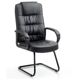 Dynamic Moore Visitor Leather Office Chair in Black