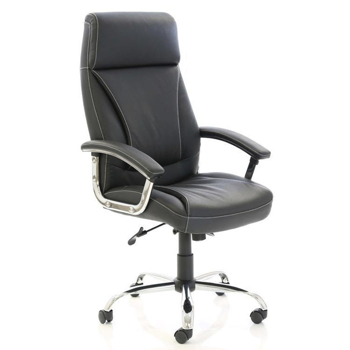 Dynamic Penza Luxury Executive Leather Office Chair in Black