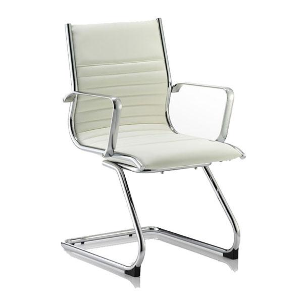 Dynamic Ritz Visitor Office Chair in Ivory