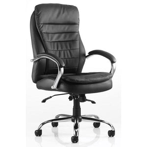 Dynamic Rocky Luxury Executive Leather Office Chair in Black