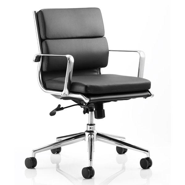 Dynamic Savoy Medium Back Executive Office Chair in Black