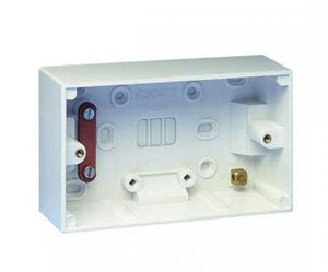 AV4-CP-AV416616 - Surface Mounted Double Gang back box for AV wallplate installations