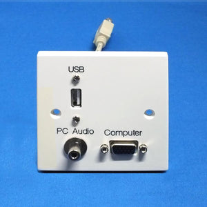 VGA Wall Plate with USB and 3.5mm Jack Audio (AV4-MA-1GW-VGA-USB-3.5-PP)