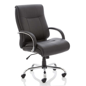 Dynamic Drayton HD Executive Leather Office Chair in Black