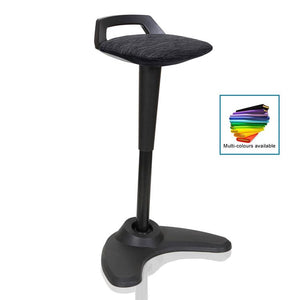 Dynamic Spry Sit and Stand Stool in Black