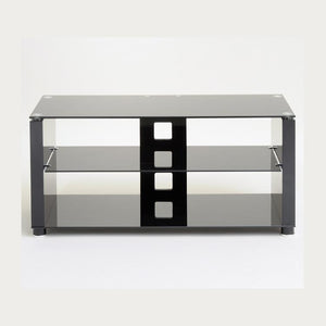 TTAP Elegance TV Stand in Gloss Black and BlackGlass (AVS-L611G-1000-3BB)