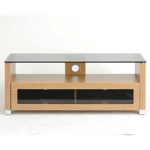 TTAP Elegance TV Cabinet in Oak and Tinted Glass (AVS-L642-1050-3OT)