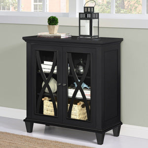 Dorel Home Ellington Range Accent Cabinet in Black
