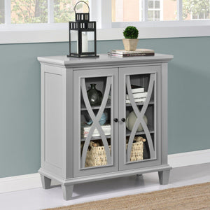 Dorel Home Ellington Range Accent Cabinet in Grey