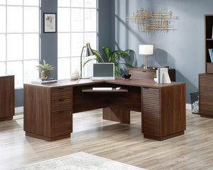 Teknik Elstree L-Shaped Corner Office Desk in Mahogany (5426914)