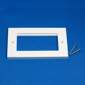 EP-100FW White plastic double gang frame for 25mm / 50mm Euro Modules
