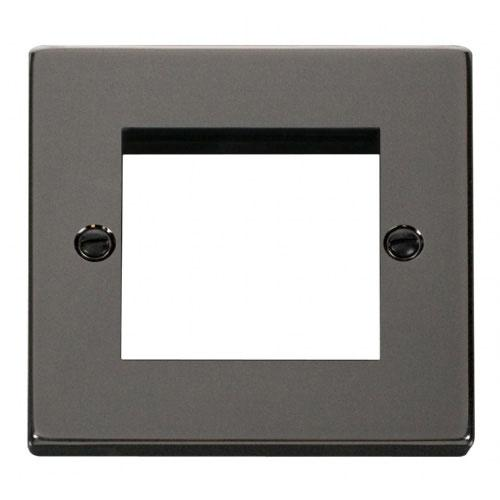 Click Deco Black Nickel New Media Twin Aperture Plate (VPBN311)