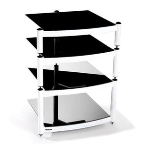 Atacama Equinox Hi-Fi RS 4-WB - 4 Shelf Hi-Fi Stand in White with Black Glass