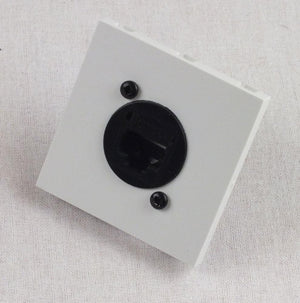 50mm White Plug and Play Euro RJ45 CAT5e Network Module