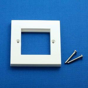 EP-50FW White plastic single gang frame for 25mm or 50mm Euro Modules
