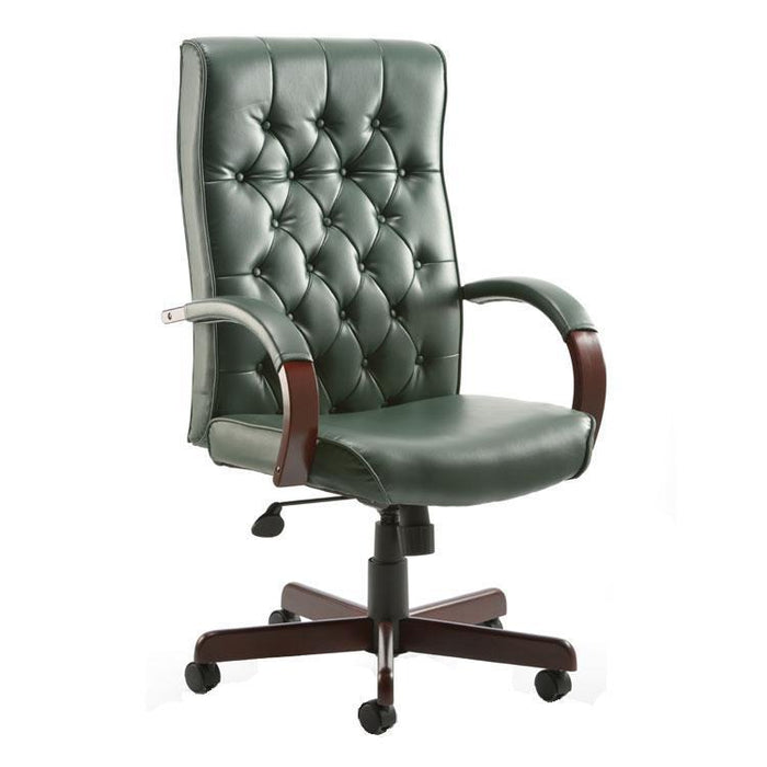 Teknik Warwick Green Leather Executive Office Chair (B8501-GR)
