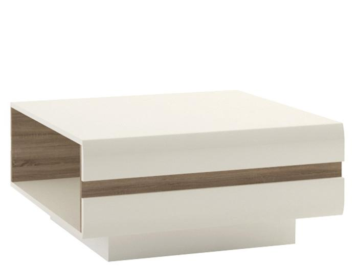 Furniture To Go Chelsea Small Gloss White and Oak Coffee Table (4027144P)