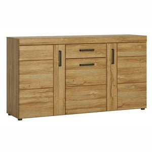 Furniture To Go Cortina 3 Door 1 Drawer Sideboard In Grandson Oak (4324256)