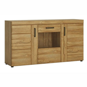Furniture To Go Cortina 3 Door Glazed Sideboard In Grandson Oak (4324356)