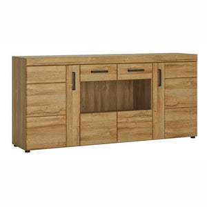 Furniture To Go Cortina 4 Door Wide Glazed Sideboard In Grandson Oak (4324456)