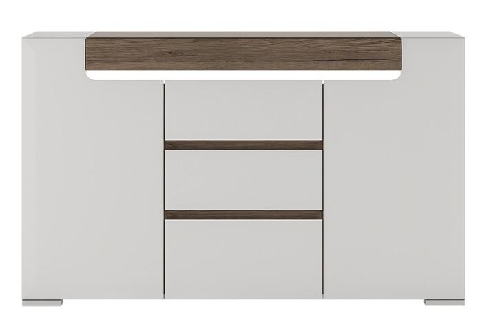 Furniture To Go Toronto 2 Door 3 Drawer Sideboard with LED Lighting (4202344)