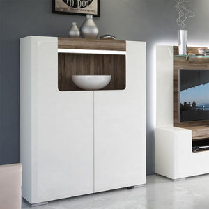 Furniture To Go Toronto 2 Door Low Cabinet with LED Lighting (4202744)