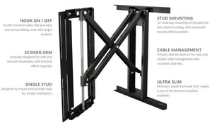 Future Automation PS40 Cantilever Wall Mount with Swivel to suit 40 to 75 inch